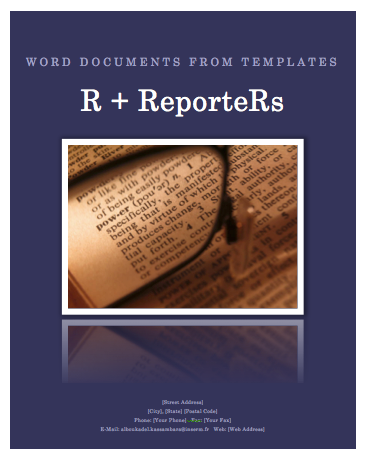 create a word document from a template file using r software and